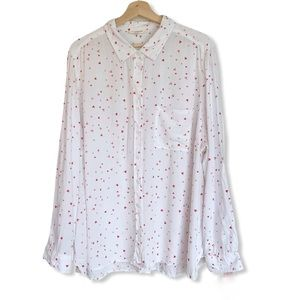 Beachlunchlounge Heart Print Button-up Top